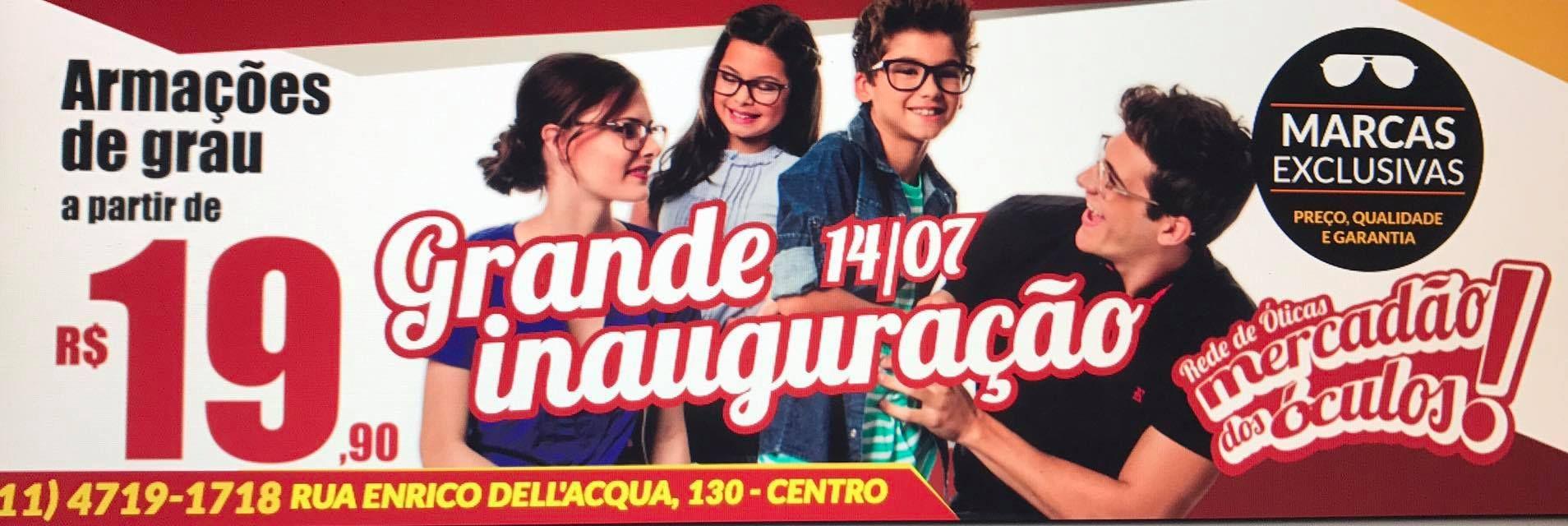 """a4134ca14 Com promoções, """"Mercadão dos Óculos"""" inaugura hoje em São Roque"""