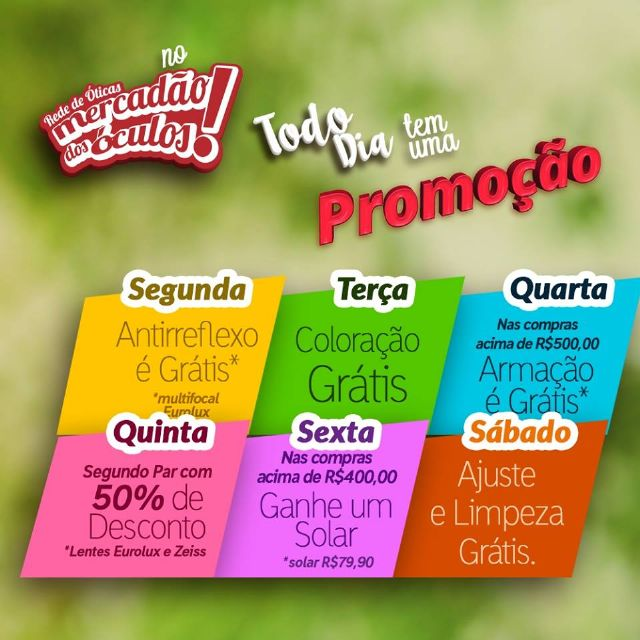 431d2356b O Mercadão dos Óculos em São Roque está oferecendo uma grande promoção até  o fim do de abril.