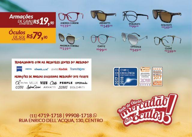 02603352c93e3 Já começou a promoção de fim de ano da ótica Mercadão dos Óculos em São  Roque.
